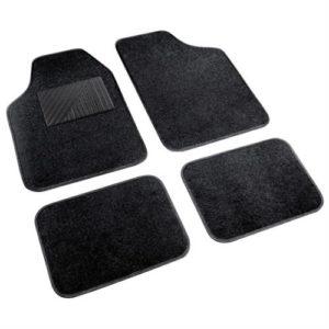 Πατάκια ΜΟΚΕΤΑ+PVC COSMO 45x66+45x33 4τεμ. Μαύρο