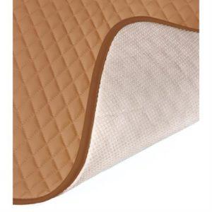 Πλατοκάθισμα με Προσκέφαλο COVER-TECH Δερματίνη 2τεμ. Φουντουκί