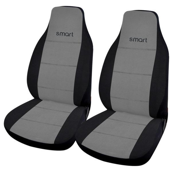 Σετ Καλύμματα Μπροστινά Αυτοκινήτου Γκρι 2τμχ για Smart