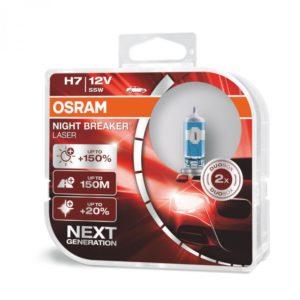 Λάμπα Αυτοκινήτου Osram H7 Night Breaker Laser +150% 12V 2τμχ