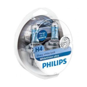 Προβολείς Αυτοκινήτου Philips H4 White Vision Ultra 12V (Sharp White Look) 2τμχ